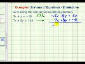 Ex 2:  Solve A System Of Equations Using The Elimination Method