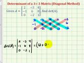 Ex 2: Determinant Of 3x3 Matrix - Diagonal Method