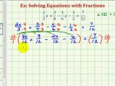 Ex 2: Solve Equations With Fractions (alternative Method)