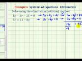 Ex 3:  Solve A System Of Equations Using The Elimination Method
