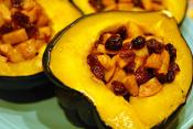 Acorn Squash Stuffed With Ham And Apple