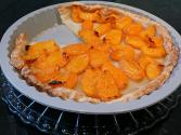 Apricot Tart With Marshmallow And Cherry Toppings