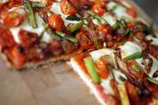 Asparagus Mozzarella And Tomato Pizzas