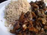 Aubergine And Mushroom Rice