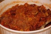 Baked Beans With Ground Beef Topping