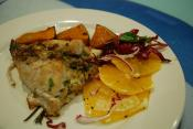 Baked Fish With Fruit Stuffing