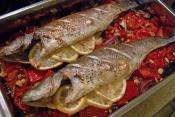 Baked Sea Bass And Vegetables