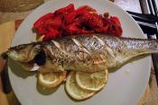 Baked Stuffed Bass