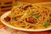 Beef And Pepper Spaghetti