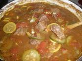 Beef Stew With Sweet And Hot Peppers
