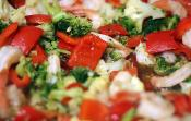 Orzo With Red Peppers Cauliflower And Broccoli