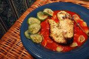 Broiled Fish With Cucumber Sauce
