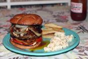 Burgers With Fried Onion