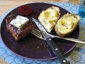 Cheddar And Blue Cheese Twice Baked Potatoes