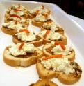 Cheese And Olive Canapes
