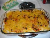 Cheese Topped Beef Vegetable Casserole