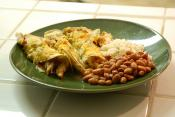Chicken &amp; Green Chile Enchiladas