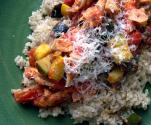 Macedoine Of Vegetables With Brown Rice And Chicken