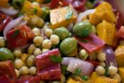 Chickpea &amp; Capsicum (pepper) Salad