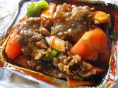 Chinese Pepper Steak With Rice