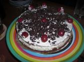 Chocolate Cherry Cream Torte