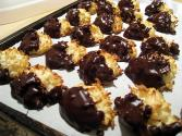 Chocolate-dipped Coconut Balls