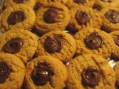 Chocolate-kiss Peanut-butter Cookies