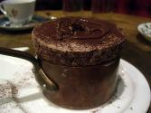 Chocolate Souffle With Hot Chocolate Sauce