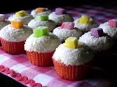 Coconut Jelly Cupcakes