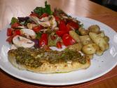 Cod With Mushrooms And Tomato
