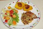 Pork Roast With Corn Bread & Oyster Stuffing
