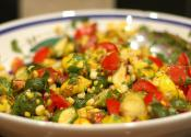 Accordion Tomato Corn Salad