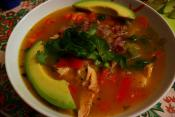 Cod Corn Tortilla Soup