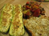 Crumb-topped Zucchini And Tomatoes