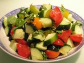 Accordion Tomato And Cucumber Salad