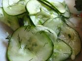 Cucumber With Chives And Dill