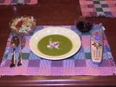 Curried Onion And Pea Soup