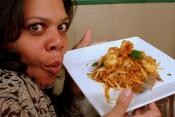 Curried Shrimp Noodles With Basil