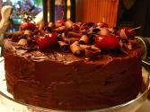 Dark Cherry Chocolate Cake