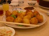 Classic Deep Fried Shrimp With Vegetables