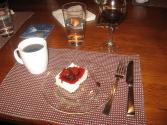 Feta Cheesecake And Wine Poached Dates