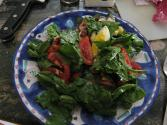 Seasoned Spinach Salad