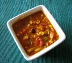 Fresh Vegetable Soup With Garbanzo Beans