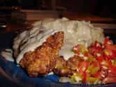 Fried Chicken With Cream Gravy