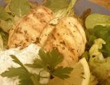 Fried Chicken With Fresh Coriander And Lemon