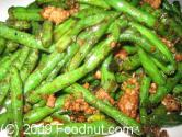 Stir Fried String Beans And White Cheese