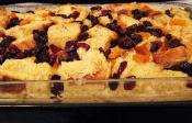 Fruit Bread Pudding With Meringue Topping