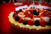 Chilean Fruit Tart With Lemon Curd