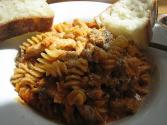 Fusilli With Sausages And Mushrooms