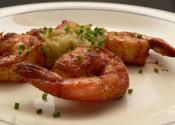 Skewered Shrimp With Garlic Butter Sauce
